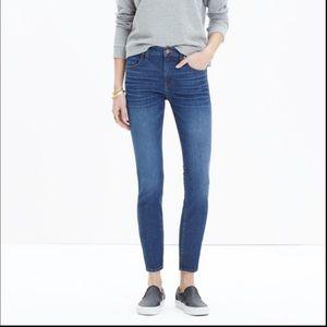 Madewell 9' high riser skinny skinny crop jeans 27